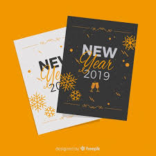 Happy new year 2019 greeting cards Vector | Free Download