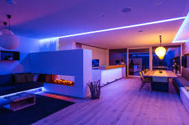 relaxing lighting. this colorful light scene is great for parties or when relaxing on the couch while watching tv lighting n