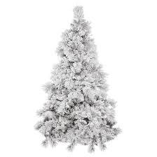 3.5ft Unlit White Flocked Pine Artificial Christmas Tree