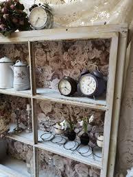 Fenster Regal Schrank Vintage Landhausstil Brocante Cottage Shabby Chic