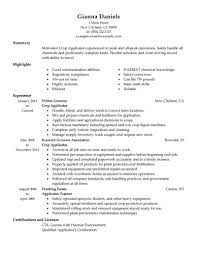 Best Applicator Resume Example Livecareer