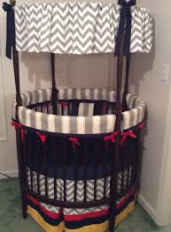 top round crib bedding