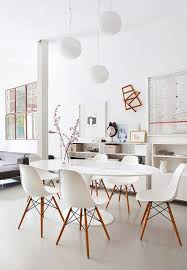knoll eames chair. White Eames Chairs And A Tulip Table Knoll Chair