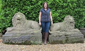 original antique vintage large stone lions are available from our yard in england