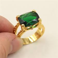 2019 vine green emerald 18k yellow gold filled solire claw ring for men size 8 9 10 11 from alexander one 11 33 dhgate