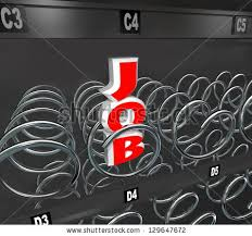 Vending Machine Job Gorgeous Word Job Empty Vending Machine Symbolize Stock Illustration