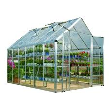 silver polycarbonate greenhouse