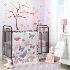 butterfly crib bedding pink brown set purple cocalo mia rose .