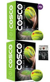 Cosco Light Weight Cricket Ball Cosco Light Cricket Tennis Balls Pack Of 12 With