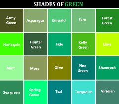 Tumblr Green Color Chart Green Color Names Green Colour