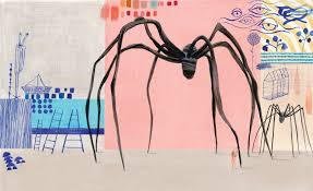 an ilration of louise bourgeois spider by isabelle nault from the new children s book