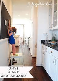 diy large chalkboard in kitchen