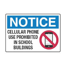 Cell Phone Use Prohibited In School Buildings Cell Phone Policy
