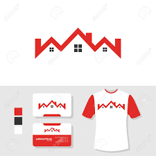 Shirt Mock Up Real Estate House Logo With Business Card And T Shirt Mockup