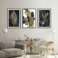 set of 3 modern prints pictures framed