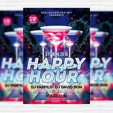 Happy Hour Flyer Happy Hour Free Club And Party Flyer Psd Template