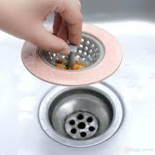 silicone kitchen sink strainer bathroom shower drain drains cover colander sewer hair filter basket stopper plug