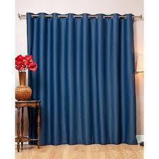 aurora home wide fire ant grommet 84 inch blackout curtain panel 100 x