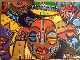 african abstract paintings colored