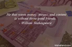 Money Quotes Interesting Money And Friends Quotes