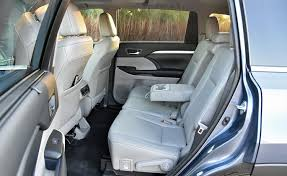 able to slide forward and back the highlander s rear seats provide lots of legroom when positioned as far back in their tracks as they will go