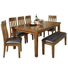 kitchenette table set 6 piece rustic dining set with bench kitchen table and chair sets ikea