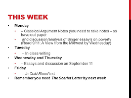 this week monday classical argument notes you need to take  1 this week monday classical argument