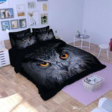 owl full size bedding set black owl quilt duvet doona cover set king queen full size bedding sets animal new size flannel duvet cover purple duvet cover