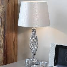 silver bedside lamps jenna table lamp silver pagazzi lighting gmnfzzw