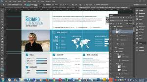 Template For Resume And Cover Letter How to customise CV Resume template in Photoshop Infographic 64