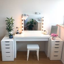 Vanity table Modern Being Fan Of Makeup And Cosmetics For As Long As Can Remember Always Longed To Have The Perfect Dressing Table And vanity Mirror The Ones That Claire Baker My Diy Dressing Table And Vanity Mirror Claire Baker