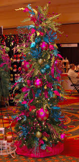 Decoration Ideas, Creative Colorful Christmas Trees Decor With Fancy Rug  And Fancy White Chandle Holder: Beautiful And Chic Christmas Tree Decorating  Themes
