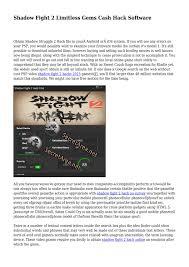 Shadow Fight 2 Hack Ios No Survey