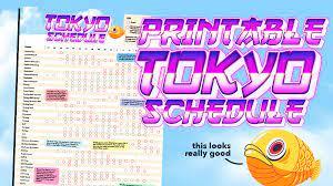 Tokyo 2020 Olympic Schedule, print ...