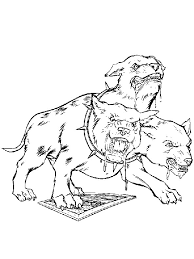Dangerous Dog With Harry Potter Coloring Pages Color Online Free