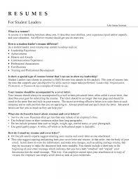 Day Camp Leader Cover Letter Fungram Co Resume Example Leadership