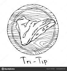最も人気のあるステーキ トライチップ ラウンド木製のまな板に牛肉の