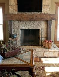 rustic wood mantels for fireplace reclaimed