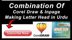 Making A Letter Head Combination Of Corel Draw Inpage Making Urdu Letter Head Master Work Group
