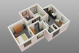 3 bedroom 1 bathroom family home affordable housing 4 room house plans in south africa