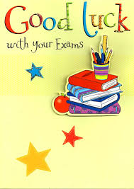 Good Luck With Your Exams Greeting Card 3d Flittered Glitter Lucky