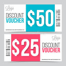 Creative Discount Voucher Or Coupon Design Stock Illustration