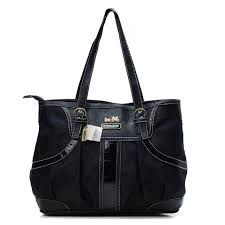 Discount Coach In Monogram Medium Black Totes Bxs Outlet SNl0i