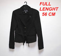 size 46 jacket in us armani jeans aj ladies woman jacket black color european size 46 us