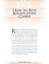 How to Run Roleplaying Games by Felix.Quinn - issuu