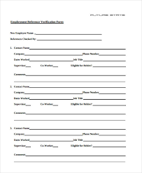 Reference Verification Form Employment Verification Form For Snap Benefits Insaat Mcpgroup Co