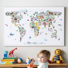 Manchester United Bedroom Wallpaper Animal World Map Print By Artpause Notonthehighstreetcom