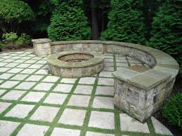 flagstone patio with grass. Image By: Elements Landscape Flagstone Patio With Grass