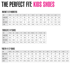 Little Girls Shoe Size Chart Kids Shoes Chart Toddler Shoe