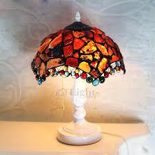 glass shade lamp multi color vintage in e26 e27 base 3